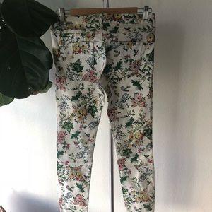 Zara Women's Floral Denim Mid Length